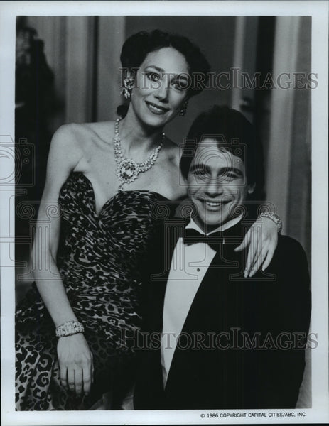 "1986 Press Photo Marisa Berenson and Tony Danza in ""Who's the Boss?"" - mjp01311 - Historic Images"