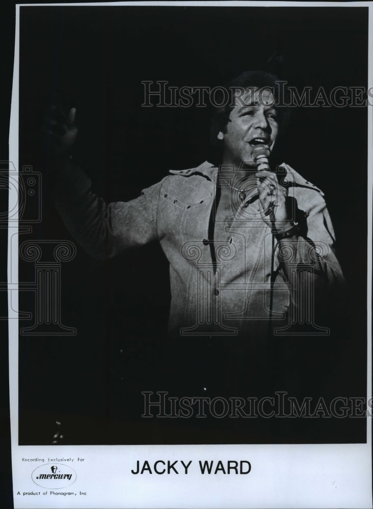 1975 Press Photo Jacky Ward, Country singer - mjp02380 - Historic Images