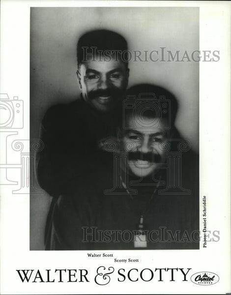 1993 Press Photo Walter & Scotty, Singers Walter Scott & Scotty Scott - Historic Images