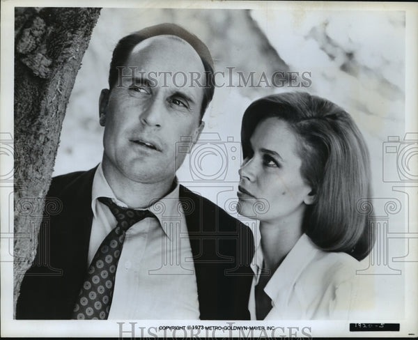 1973 Press Photo Robert Duvall and Karen Black in The Outfit. - mjp05782 - Historic Images