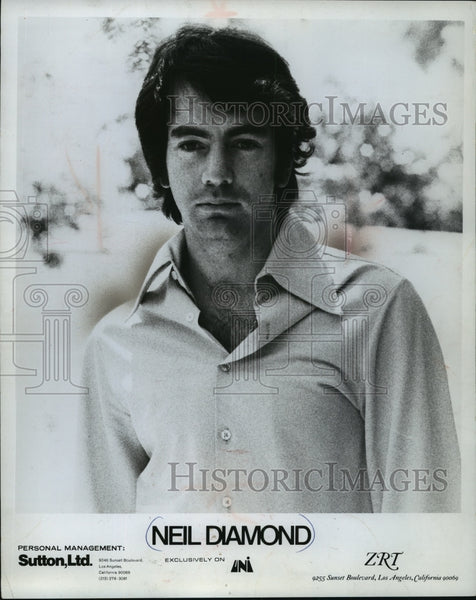1970 Press Photo Neil Diamond, singer. - mjp06106 - Historic Images