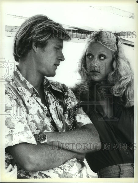 1979 Press Photo Brian Kerwin and Bonnie Ebsen star in The Paradise Connection. - Historic Images