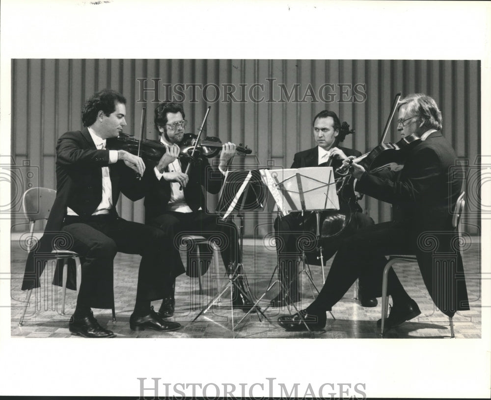 "1986 Press Photo The Fine Arts Quartet opens ""Summer Evenings of Music"" - Historic Images"