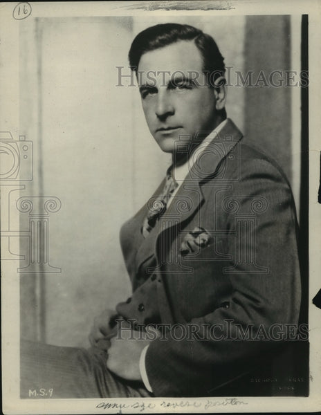 1927 Press Photo Milton Sills, actor - Historic Images