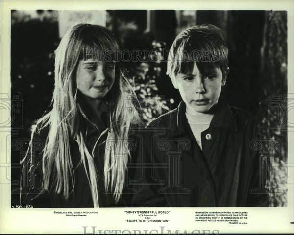 1979 Press Photo Kim Richards and Ike Eisemann star in Escape to Witch Mountain - Historic Images