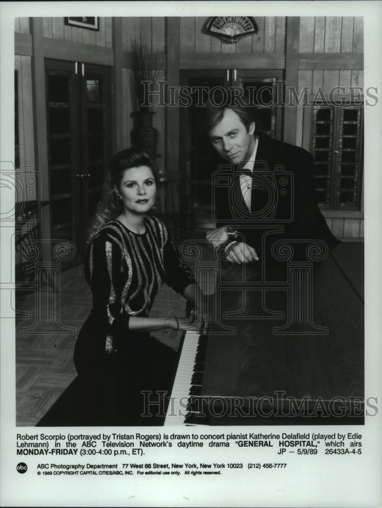 1989 Tristan Rogers Edie Lehmann In Abc S General Hospital Historic Images