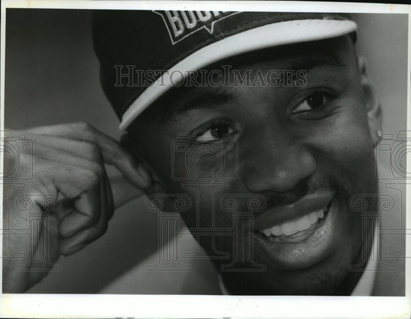 1993 Press Photo Vin Baker makes it to the National Basketball Association - Historic Images