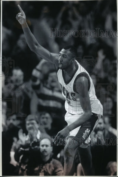 1995 Press Photo Vin Baker, one of Bucks basketball's more productive players - Historic Images