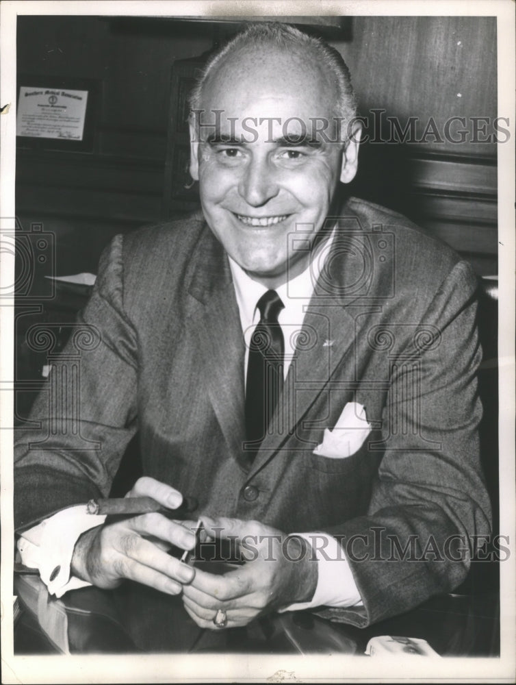 1961 American baseball team owner, Charles Finley of the Oakland A's - Historic Images