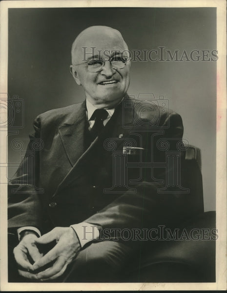 1950 Press Photo Former President Harry Truman - mjx51963 - Historic Images