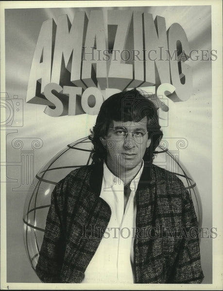 "1985 Press Photo Steven Spielberg's new series, ""Amazing Stories"". - mjx53822 - Historic Images"