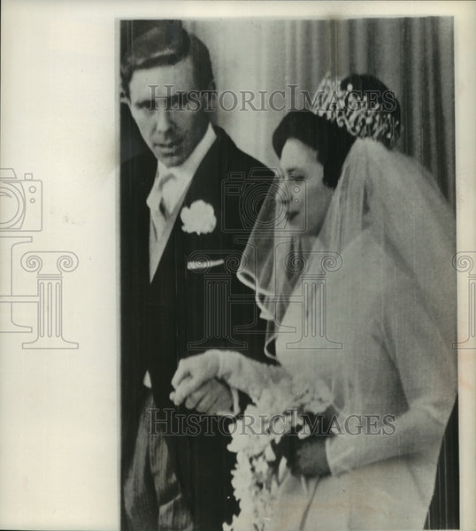 1960 Press Photo Earl Of Snowden With Wife Princess Margaret Of England - Historic Images