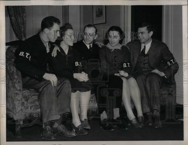 1939 Varsity Spelling Team James James, Lenora Evans, Harry Stevick - Historic Images