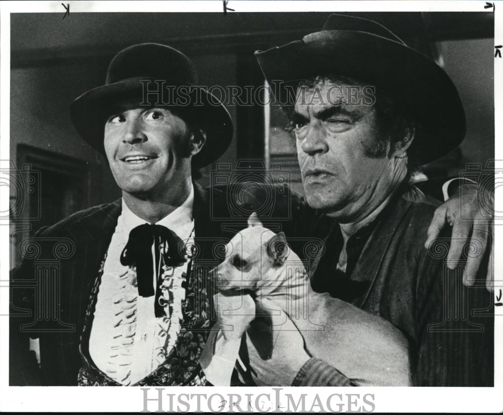 1982 James Garner and Jack Elam in Support Your Local Gunfighter - Historic Images