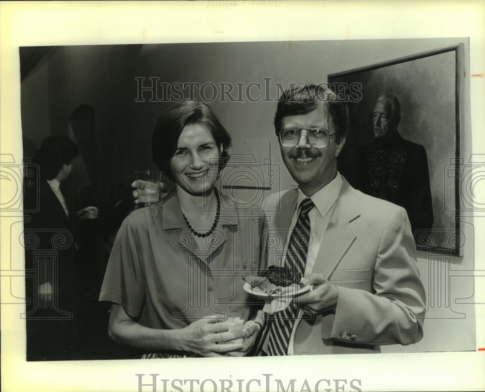 1986 Press Photo Jan and Bob Angel at Event - saa00363 - Historic Images