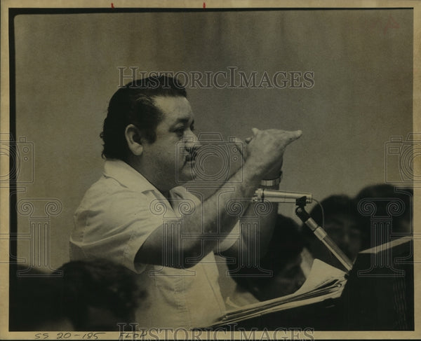 1979 Press Photo Candelario Alejos of Mexican American Betterment Organization - Historic Images