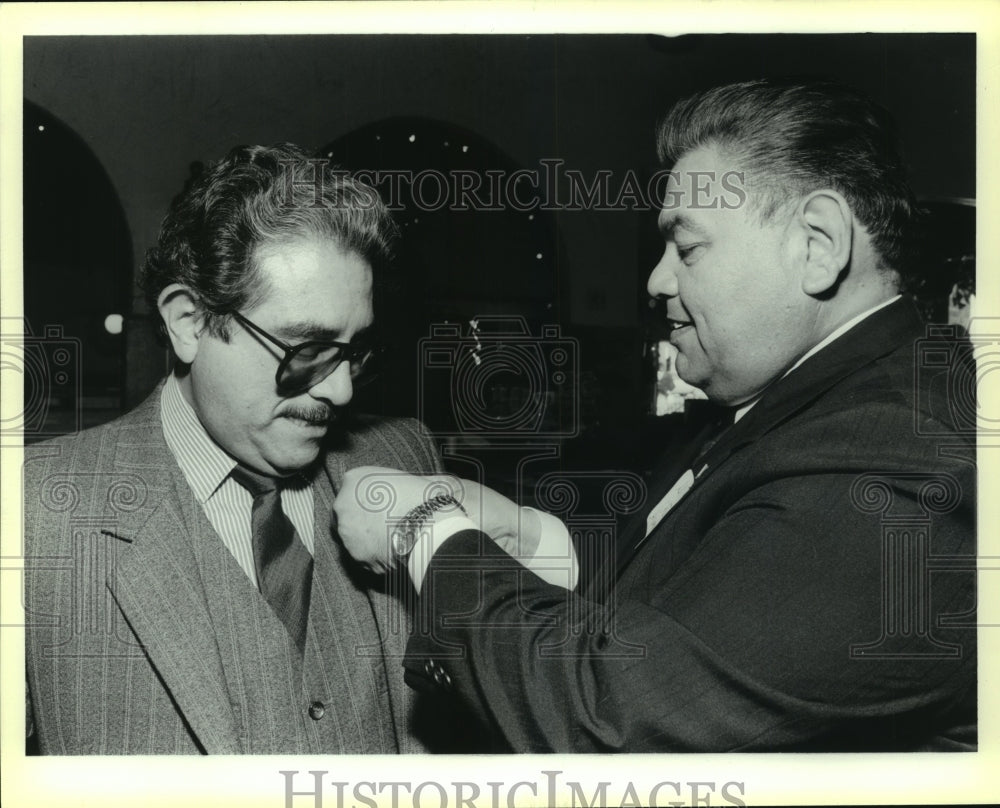 1989 Press Photo Al Aleman, Hispanic Chamber Chairman at Honors Luncheon - Historic Images