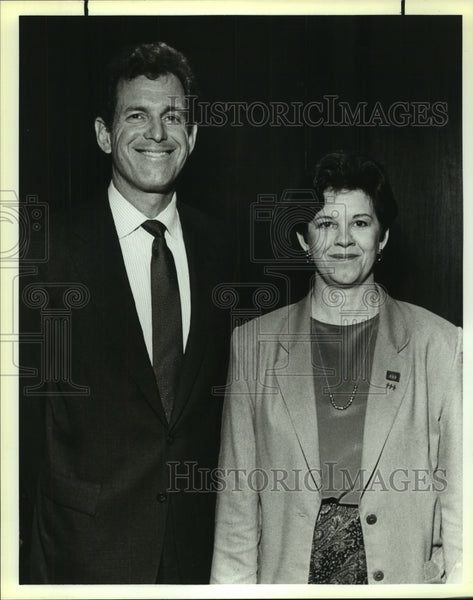 1990 Press Photo Wayne Alexander, Pacesetter Chariman at United Way Reception - Historic Images