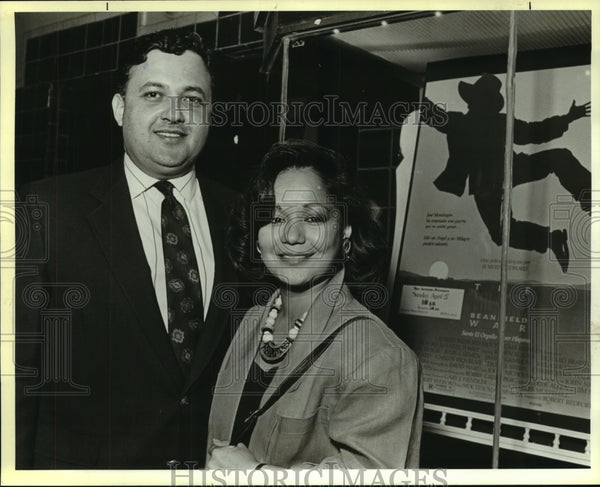 1988 Press Photo Adolfo and Amanda Aguilar at Art Center Benefit - saa00689 - Historic Images