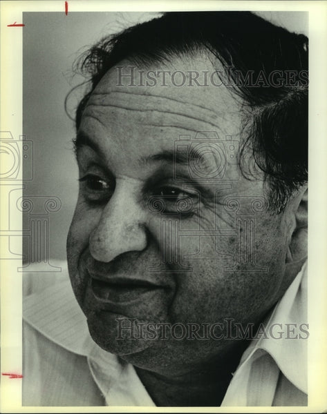1983 Press Photo Efraim Abramoff, Orah Wall Construction Builder - saa00835 - Historic Images
