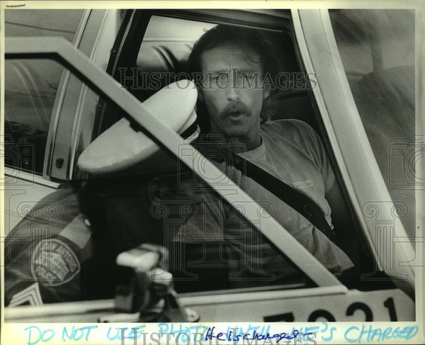 1986 Press Photo John Anderson, arrested after high-speed chase - saa00990 - Historic Images