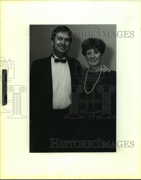 1988 Press Photo Citizens United benefit speaker Rev. Gene Allen and wife Sandy - Historic Images