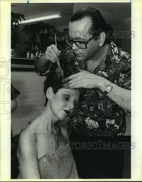 1991 Press Photo Hair stylist Mario and Susan Armitage - saa01224 - Historic Images