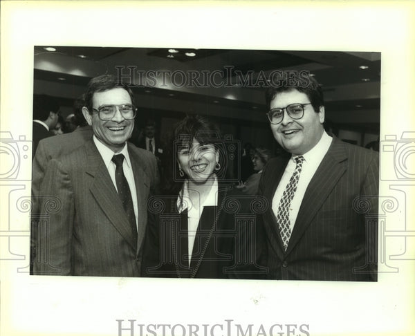 1992 Press Photo Hispanic MBAs opening reception attendees - saa01334 - Historic Images