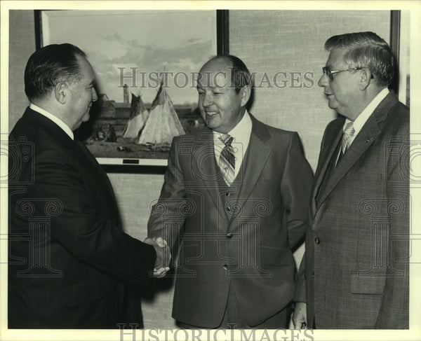 1981 Press Photo A trio of FSB bank executives - saa01346 - Historic Images