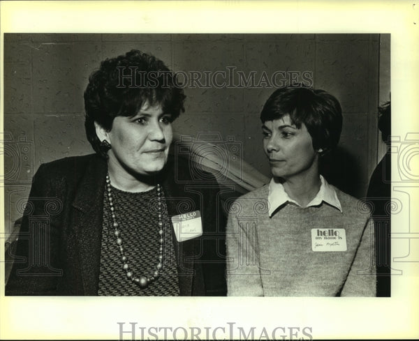 1985 Press Photo Diana Adams ad Jana Melton, Citywide Network - saa01362 - Historic Images