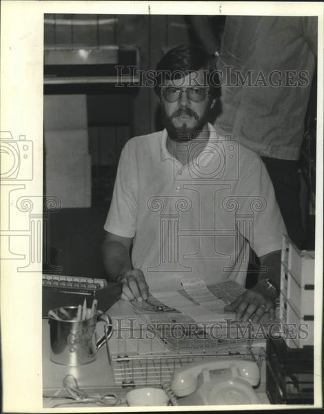 1985 Press Photo Jim Barrett of the San Antonio Express-News - saa01473 - Historic Images