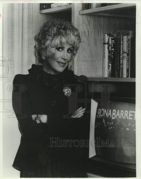 1981 Press Photo Television personality Rona Barrett - saa01481 - Historic Images