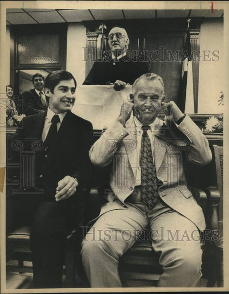 1980 Press Photo Texas Governor Bill Clements with judges - saa01505 - Historic Images