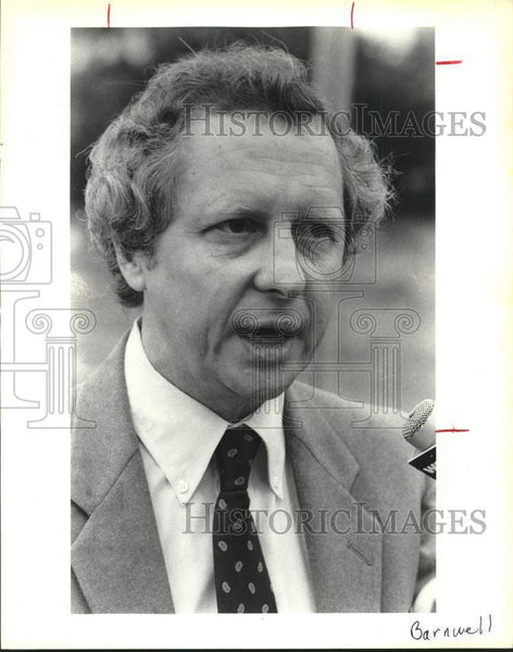 1987 Press Photo Aquifier Protetction Association president George Barnwell - Historic Images