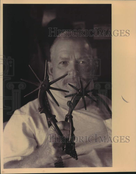 "1993 Press Photo Spurs collector Horace W. ""Billy"" Boothe - saa01578 - Historic Images"