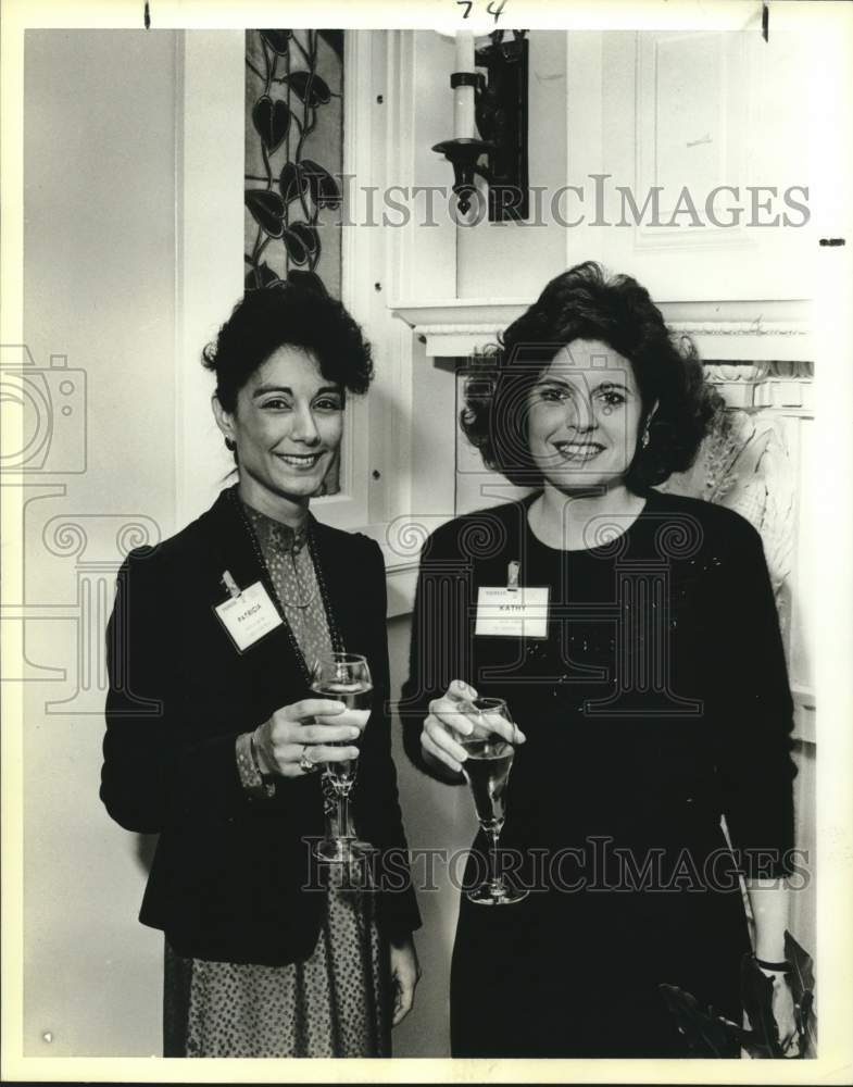 1988 Press Photo Patricia Galindo, Kathy Bonner at VIP Community Leaders event - Historic Images