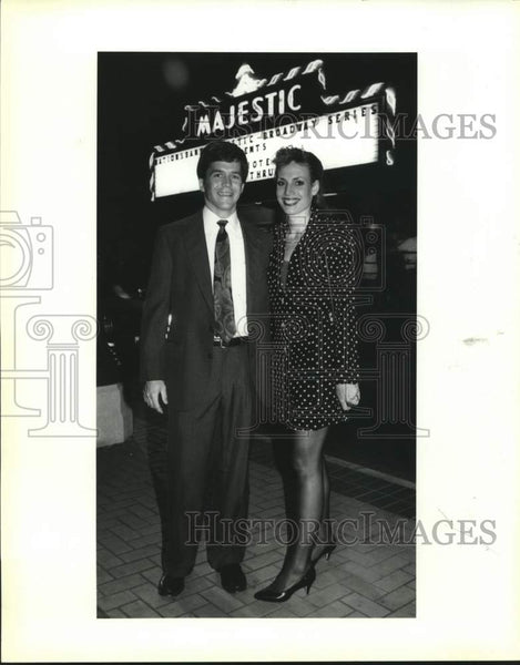 1992 Press Photo Lee and Susan Bailey, Grand Hotel Opening, Majestic Theater - Historic Images