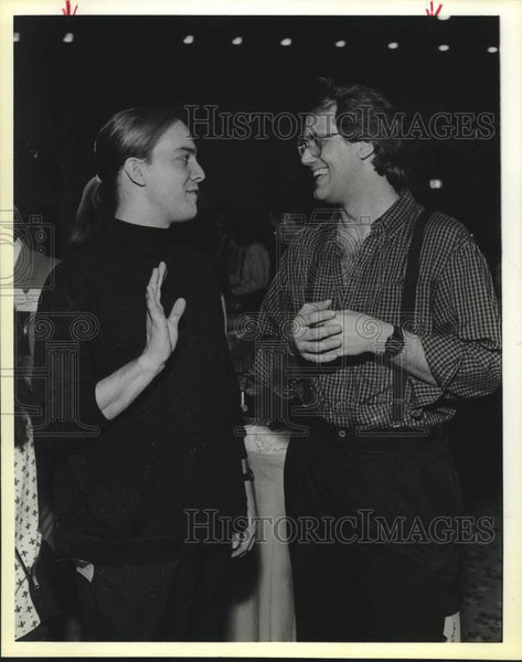 1990 Press Photo San Antonio Department of Arts and Cultural Affairs reception - Historic Images