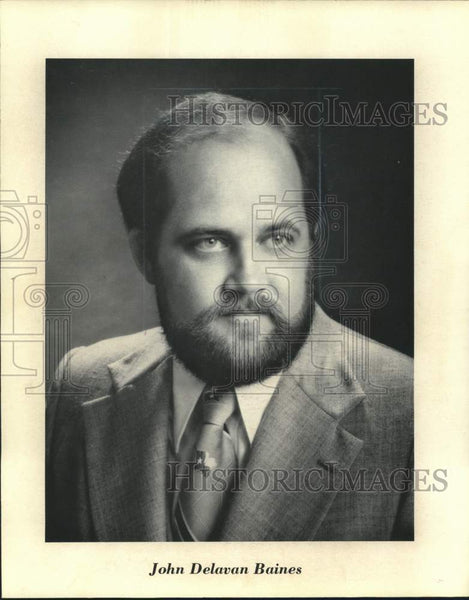 Press Photo John Delevan Baines, president of John D. Baines Properties - Historic Images