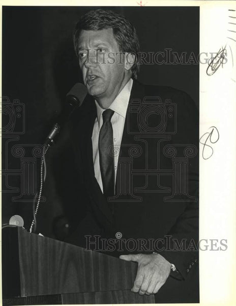 1986 Press Photo Arizona Governor Bruce Babbitt, National League of Cities - Historic Images