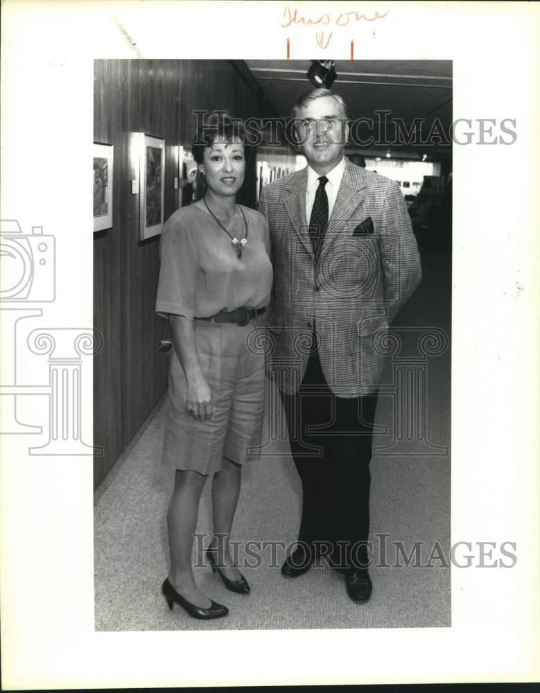 1991 Press Photo Nancy Busch, Rex Ball, See Us Through Our Imagination reception - Historic Images