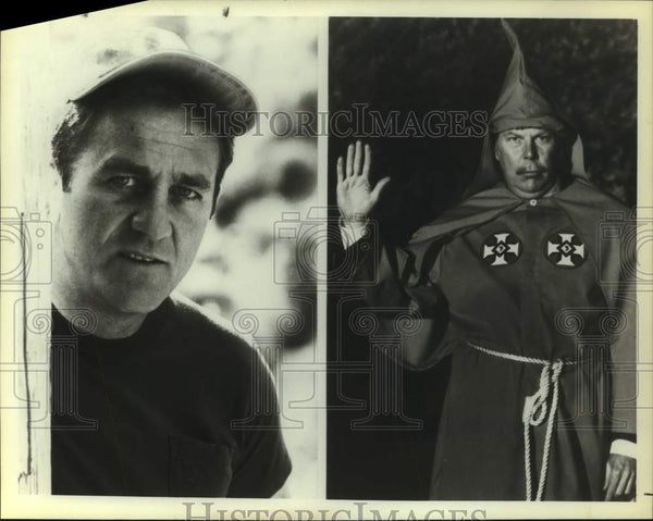 1979 Press Photo Don Meredith & Albert Salmi in My Undercover Years with the KKK - Historic Images