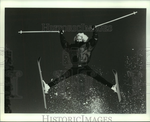 Press Photo Suzy Chaffee, World Champion Freestyle Skier - sas06962 - Historic Images