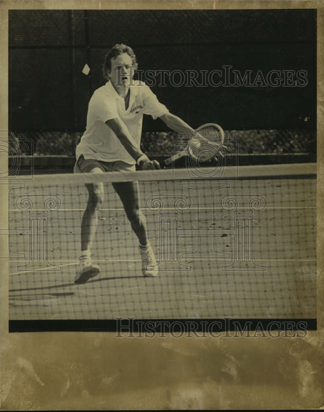 Press Photo Gary Dunn, Tennessee Tennis Player on the Court - sas07047 - Historic Images