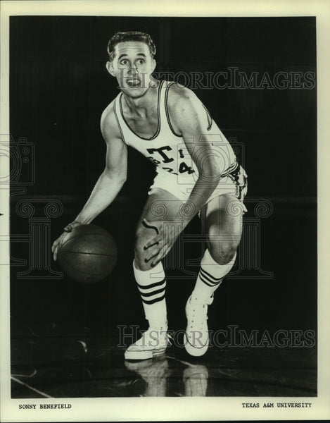 Press Photo Texas A&M basketball player Sonny Benefield - sas07168 - Historic Images