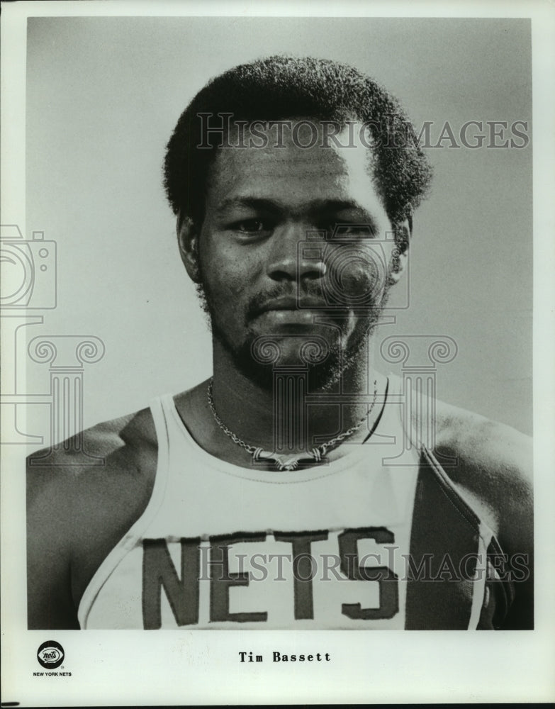 Press Photo New York Nets basketball player Tim Bassett - sas07171 - Historic Images