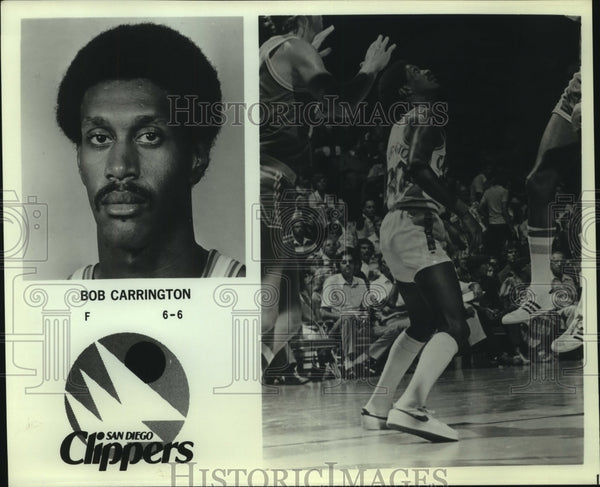 Press Photo Bob Carrington, San Diego Clippers Basketball Player - sas07695 - Historic Images