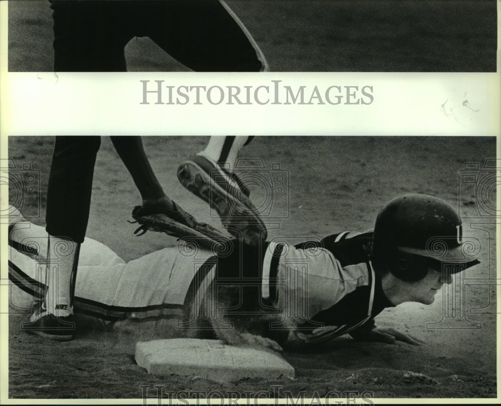 1987 Press Photo Uvalde and Alamo Heights play high school baseball - sas07784 - Historic Images