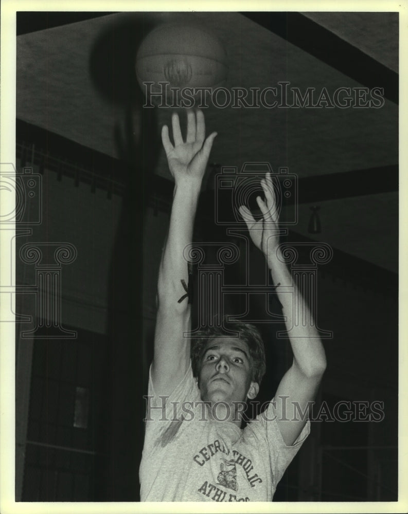 1989 Press Photo Central Catholic High basketball player Joe Hannon - sas10139 - Historic Images