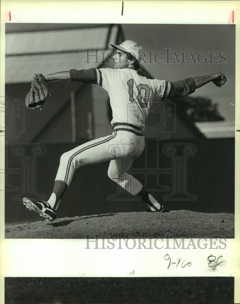 1985 Press Photo Lee High baseball pitcher Barry Morrell - sas10287 - Historic Images